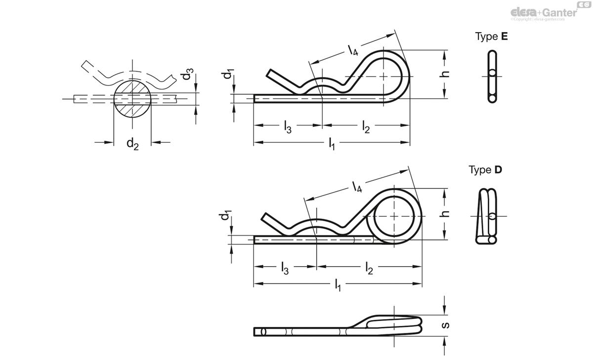 GN 1024 Spring cotter pins | Elesa+Ganter