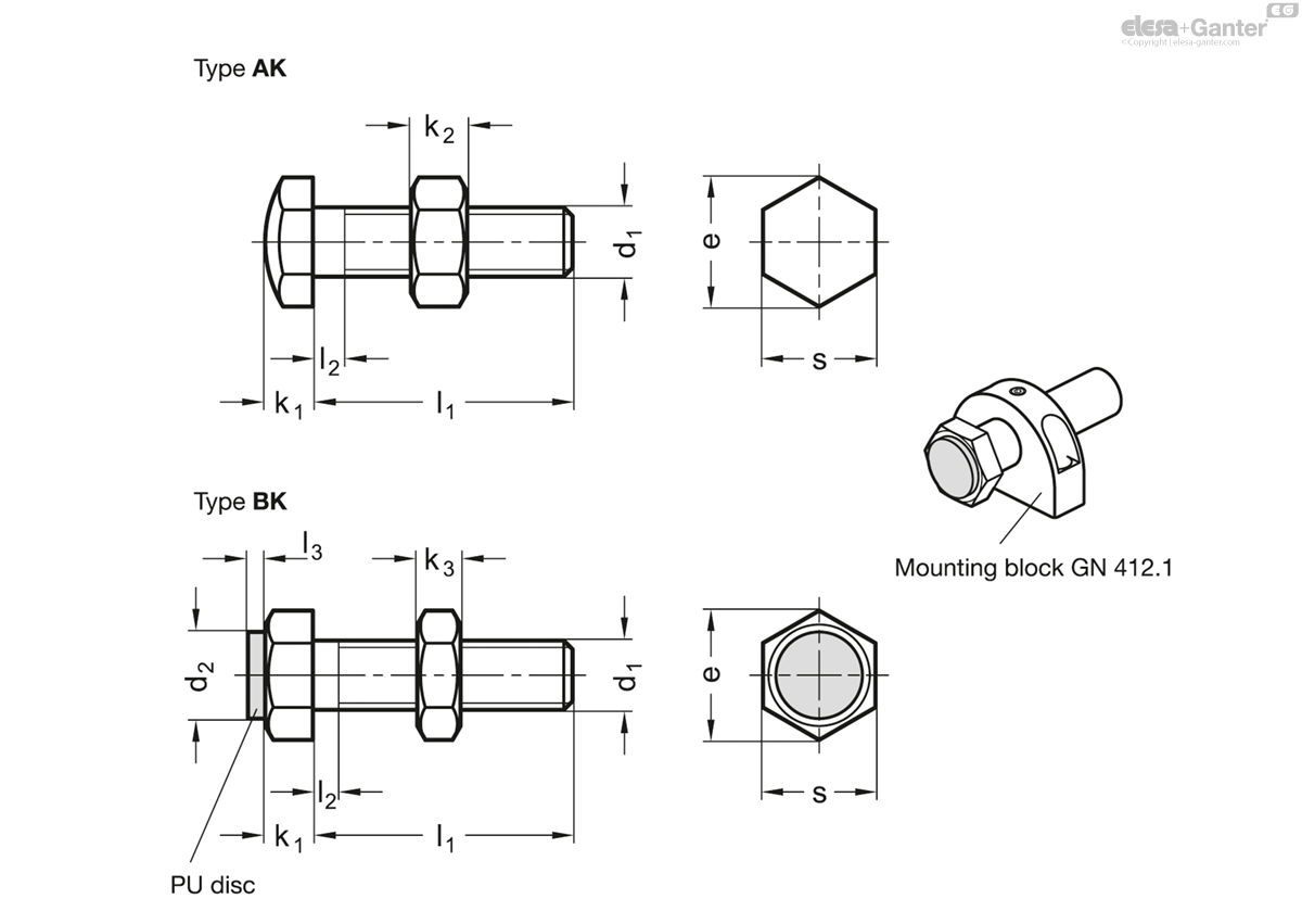 GN 251 Setting bolts | Elesa+Ganter