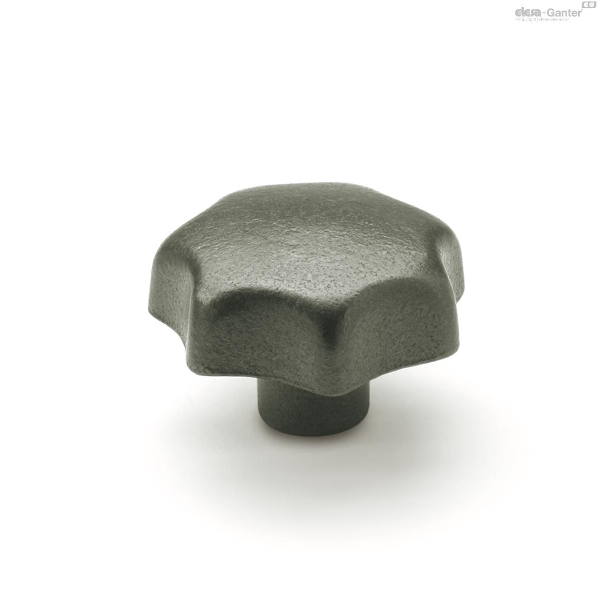 Ganter Din6336-Kt-63-M12-D Star Knob; Plastic; Thr/' Bore