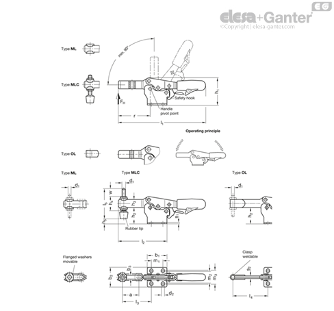 /Elasticated to Print Press-On Silver Ganter Standard Elements/ GN 614-3-NI