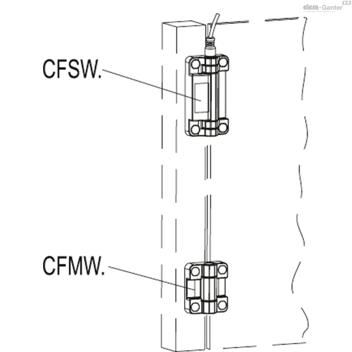 CFSW  Hinges with built-in safety switch | Elesa+Ganter